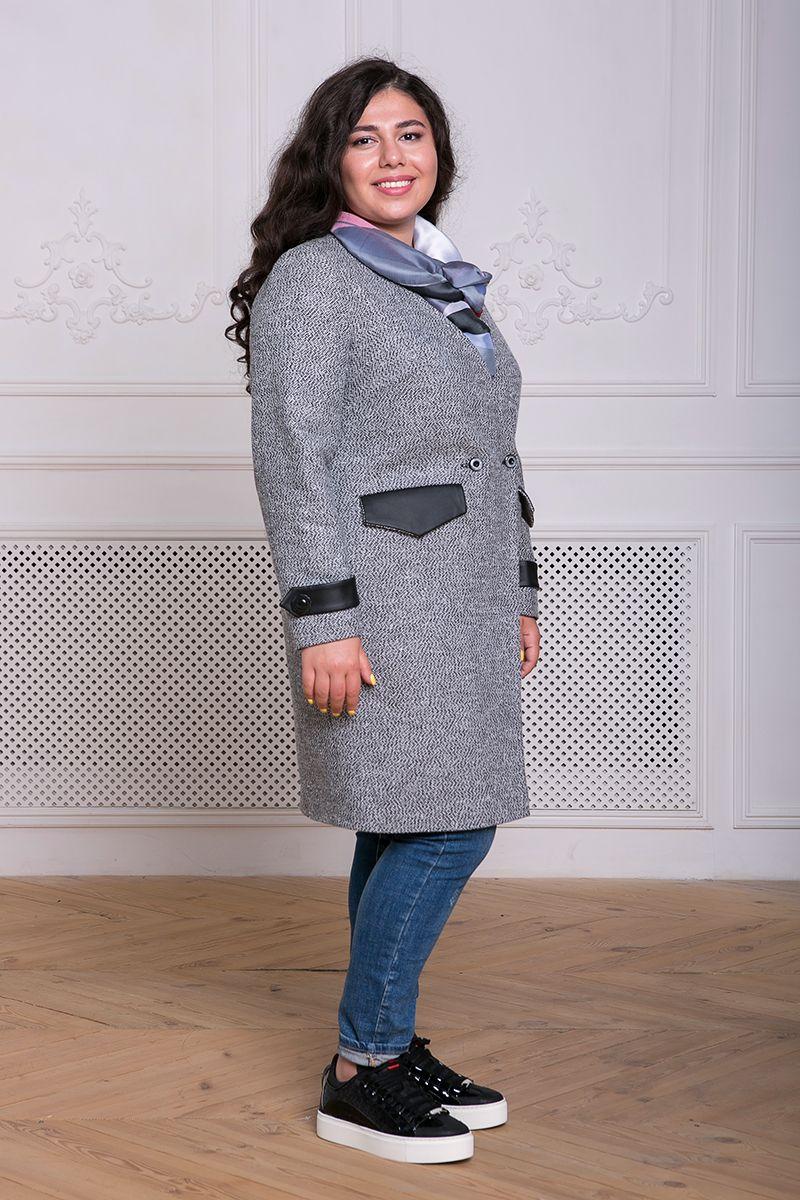 00-13033 Пальто ГРЕЙС серое - Victorya-Shop.com