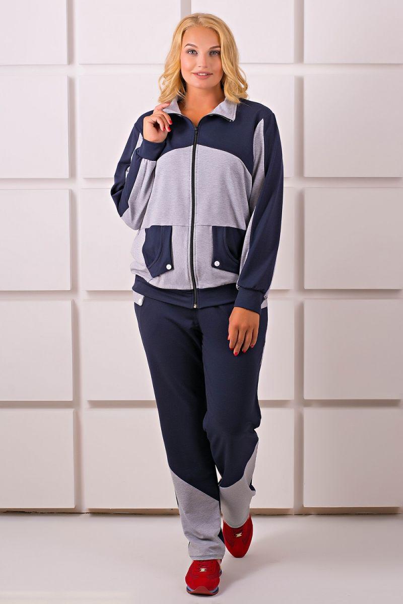 00-286Спортивный костюм Бонита (серый) - Victorya-Shop.com