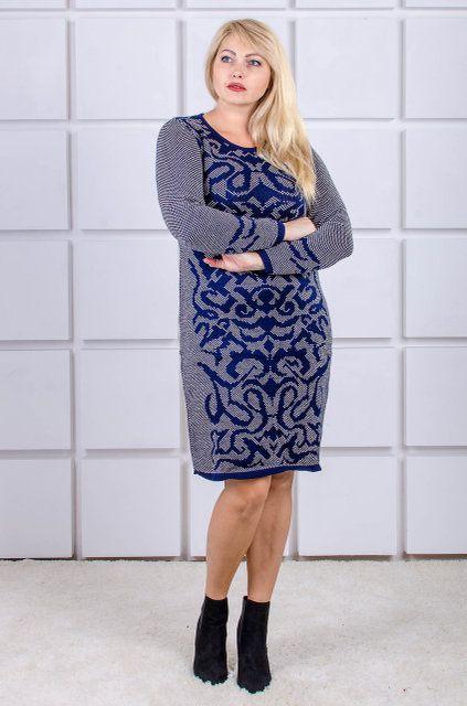 00-415 Gerda синий/белый - Victorya-Shop.com