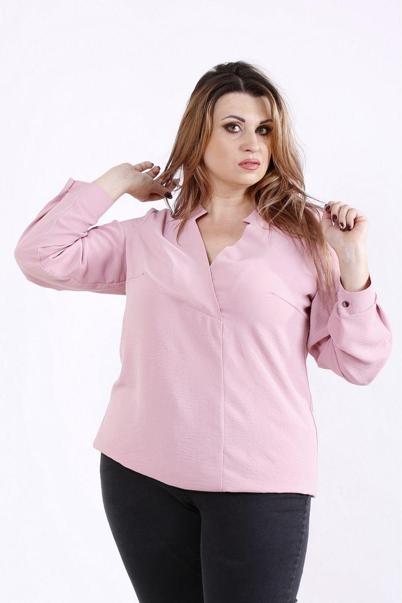 Блуза большого размера фрез 00-133678 - Victorya-Shop.com