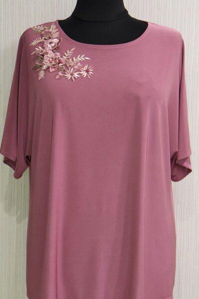 Блуза большого размера фрез 000-489 - Victorya-Shop.com