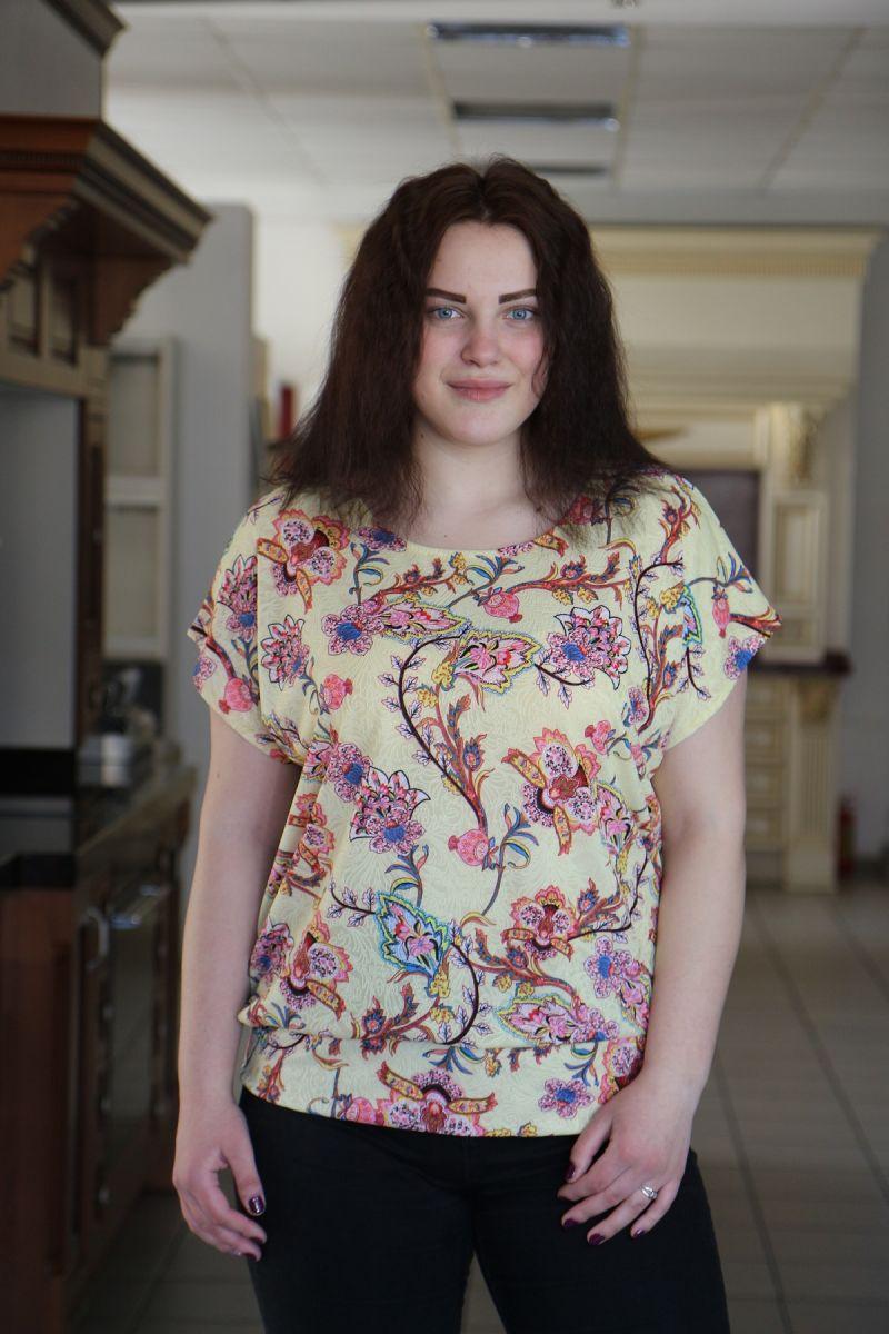 Блуза большого размера Витаминка 000-494 - Victorya-Shop.com