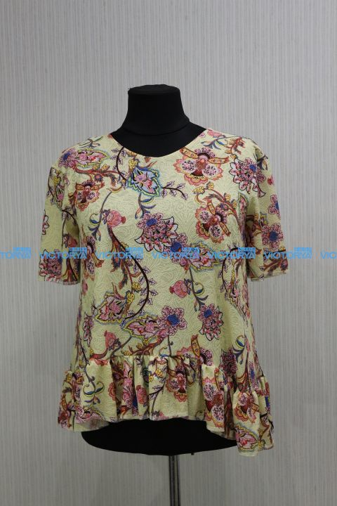 Блуза большого размера Жакард 00-886 - Victorya-Shop.com