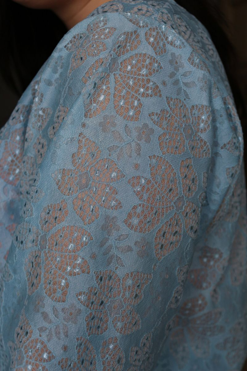 Блуза из кружева на основе  большого размера 00-133525 - Victorya-Shop.com