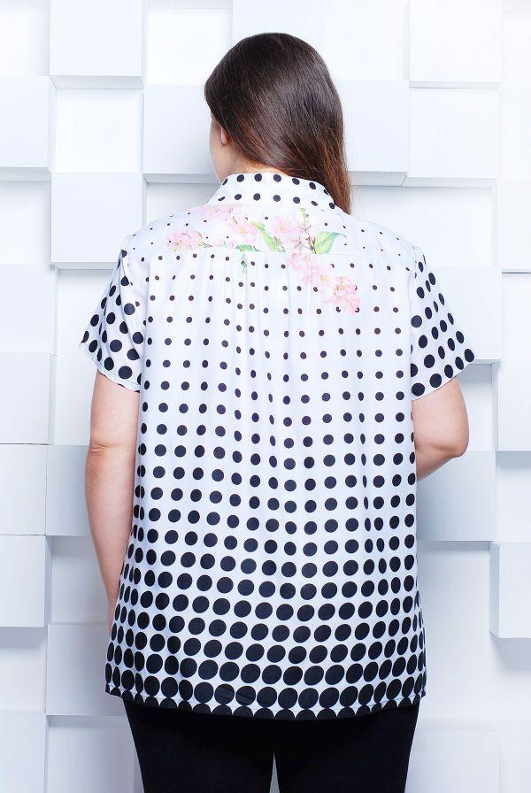 Блуза рубашечного кроя цвет белый ЭММА - Victorya-Shop.com