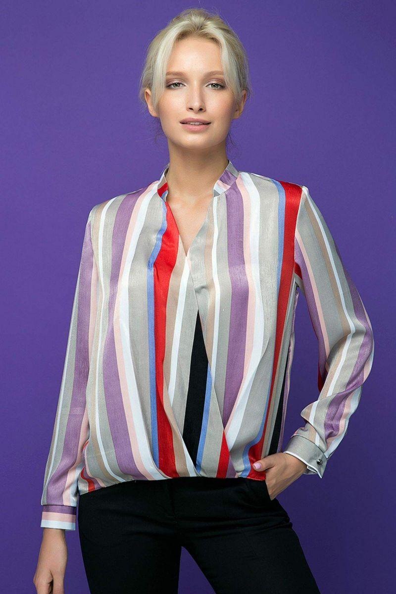Блуза с запахом OLIVER фиолетовая 00-13388 - Victorya-Shop.com