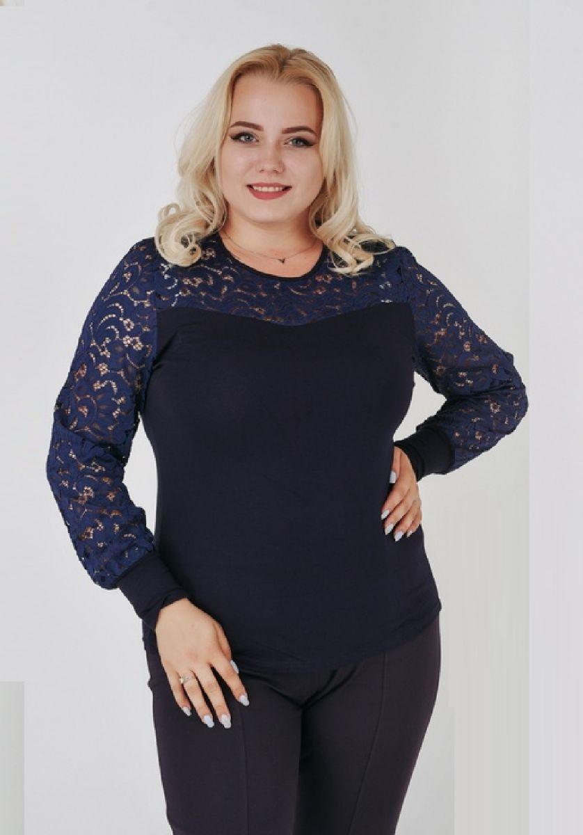 Блуза женская синий  00-133743 - Victorya-Shop.com