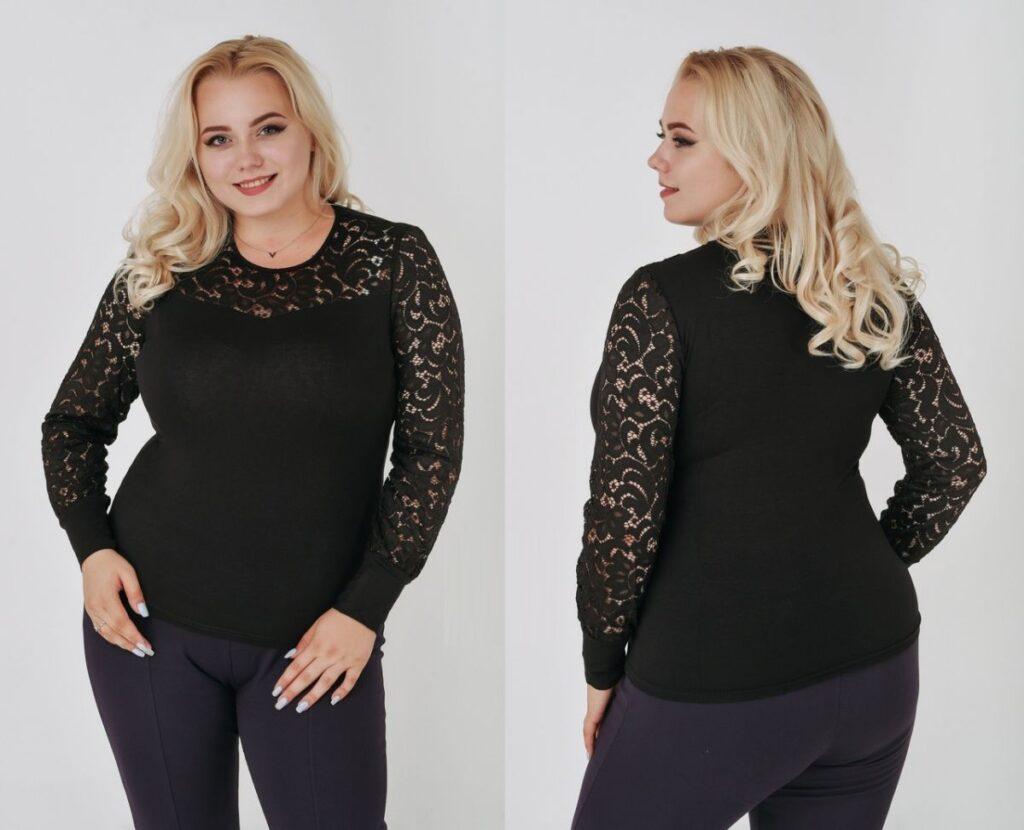 Блуза женская черный  00-133742 - Victorya-Shop.com