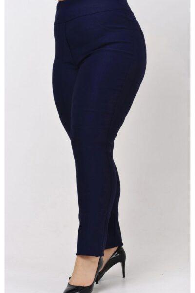 Брюки большого размера синий супер джерси  размеры 56-72 000-662 - Victorya-Shop.com