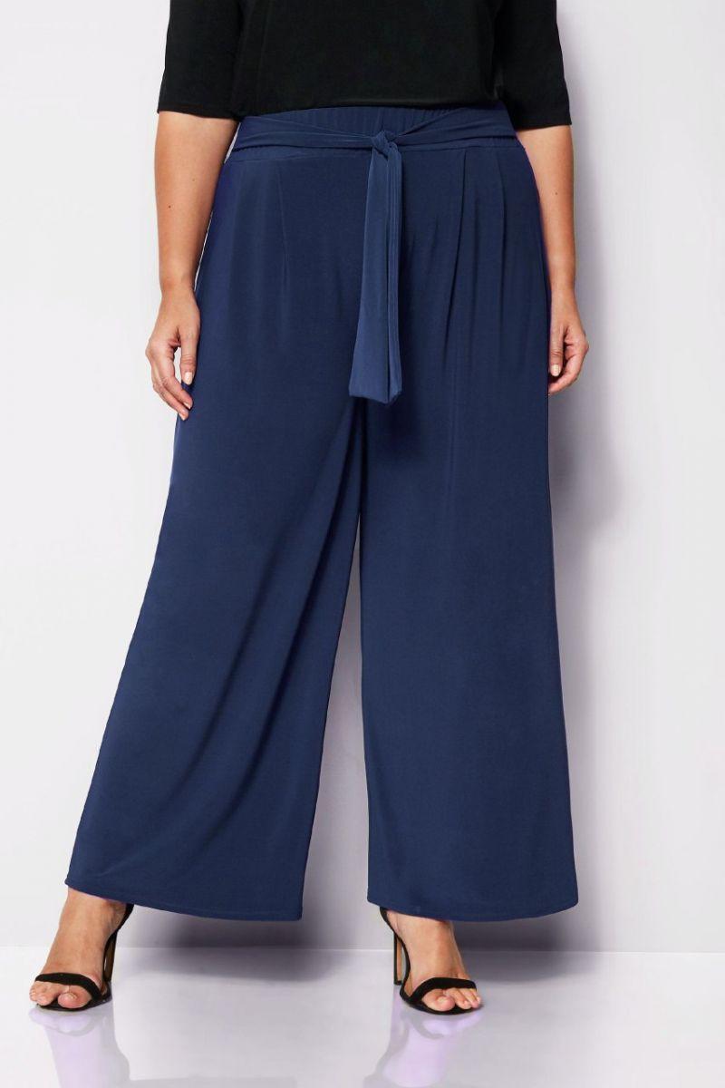Брюки женские большого синий размера 000-536 - Victorya-Shop.com