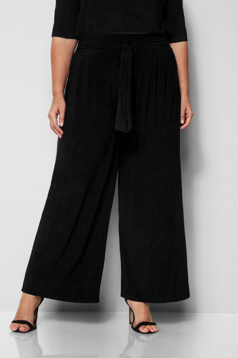 Брюки женские большого черный размера 000-537 - Victorya-Shop.com