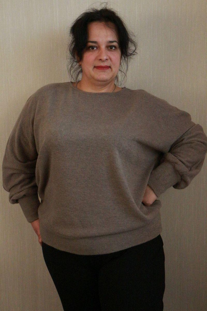 Джемпер большого размера ангора капучино ( доступно в цвете)000-180 - Victorya-Shop.com