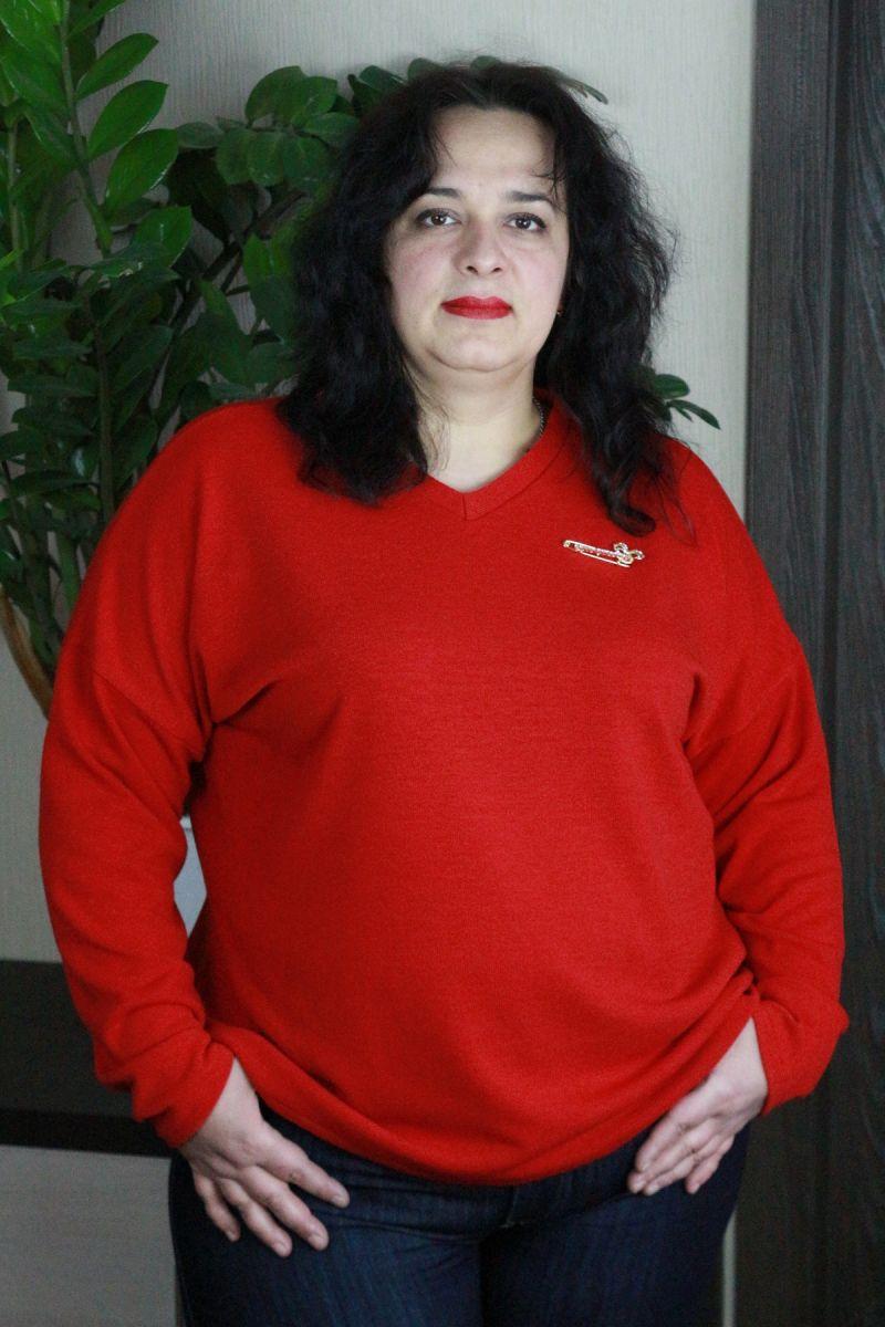Джемпер большого размера ангора люкс красный модель доступна в цвете 00-133475 - Victorya-Shop.com