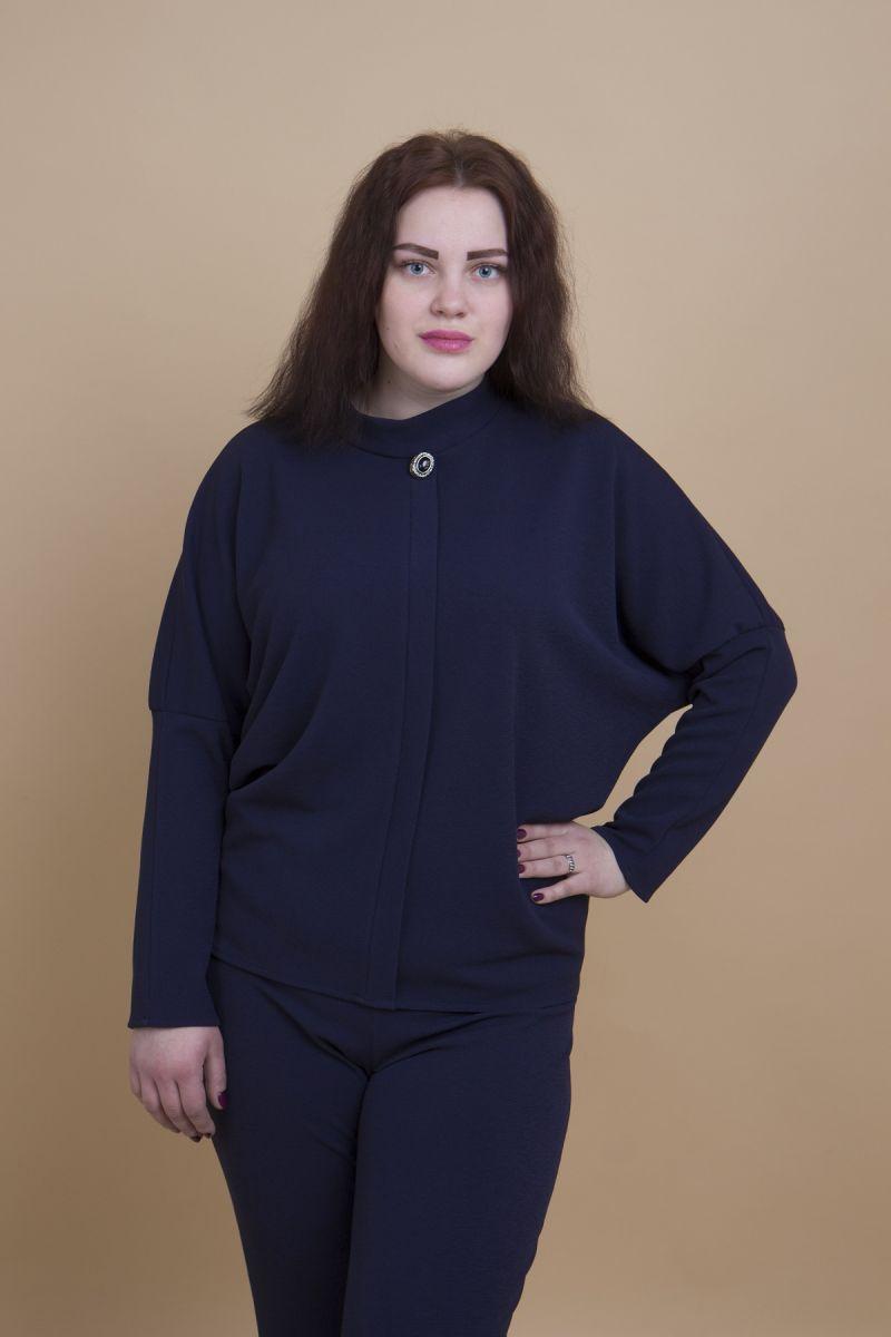 Джемпер большого размера Анна синий доступна в цвете 000-272 - Victorya-Shop.com