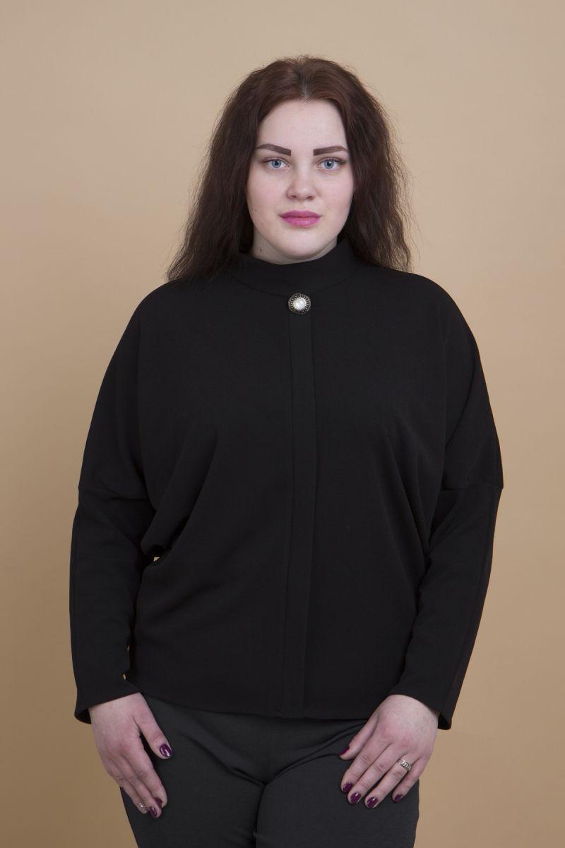 Джемпер большого размера Анна черный доступна в цвете 000-273 - Victorya-Shop.com