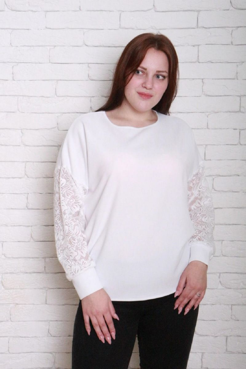 Джемпер большого размера Еленка доступна в цвете 000-271 - Victorya-Shop.com