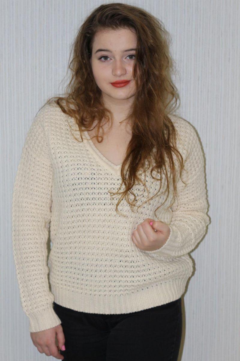 Джемпер бренд VILA молоко - Victorya-Shop.com
