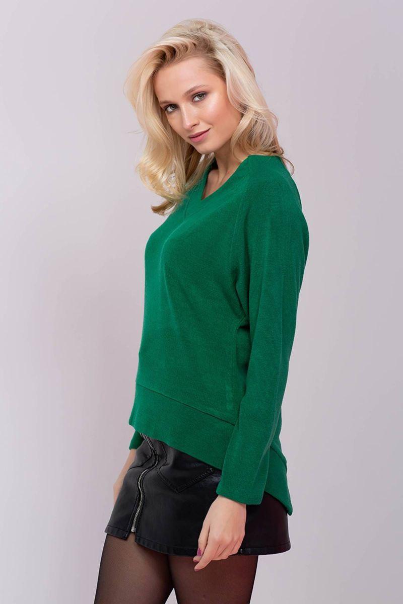 Джемпер с V-образным вырезом MIRT  зеленый 00-13391 - Victorya-Shop.com