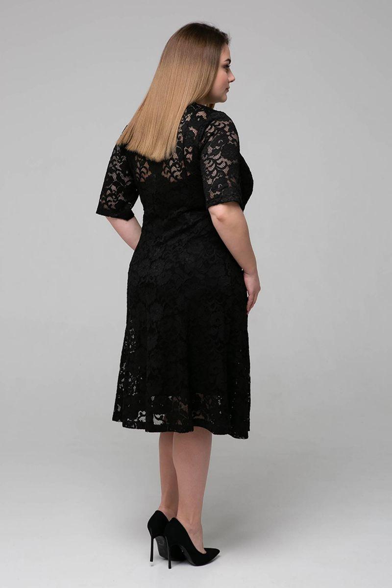 Гипюровое платье с чехлом ИВОНА черное 00-133523 - Victorya-Shop.com