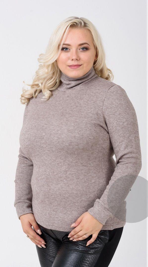 Гольф ангора альпака большого размера  000-127 - Victorya-Shop.com