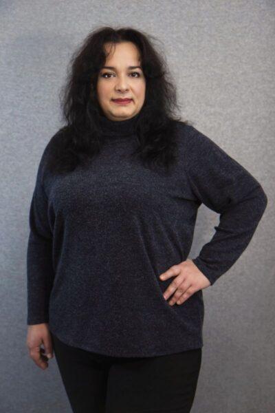 Гольф женский большого размера доступен в цвете 000-611 - Victorya-Shop.com