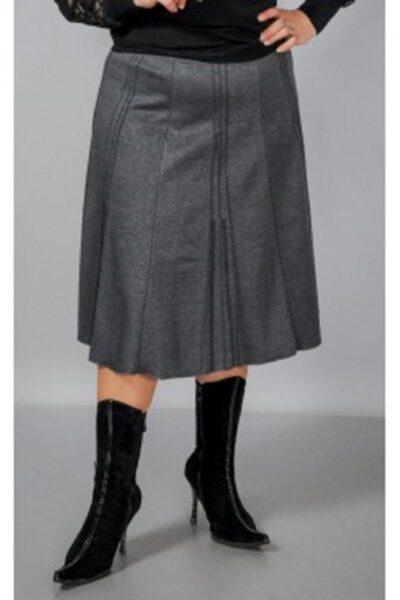 Юбка большого размера серый  00-133635 - Victorya-Shop.com
