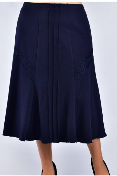 Юбка большого размера синий  00-133633 - Victorya-Shop.com
