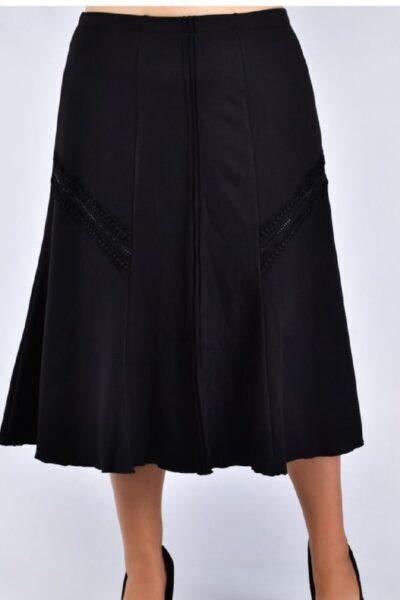 Юбка большого размера черный  00-133634 - Victorya-Shop.com