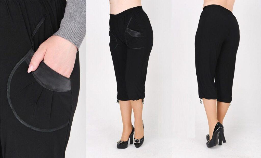 Капри большого размера  карман 012458 - Victorya-Shop.com