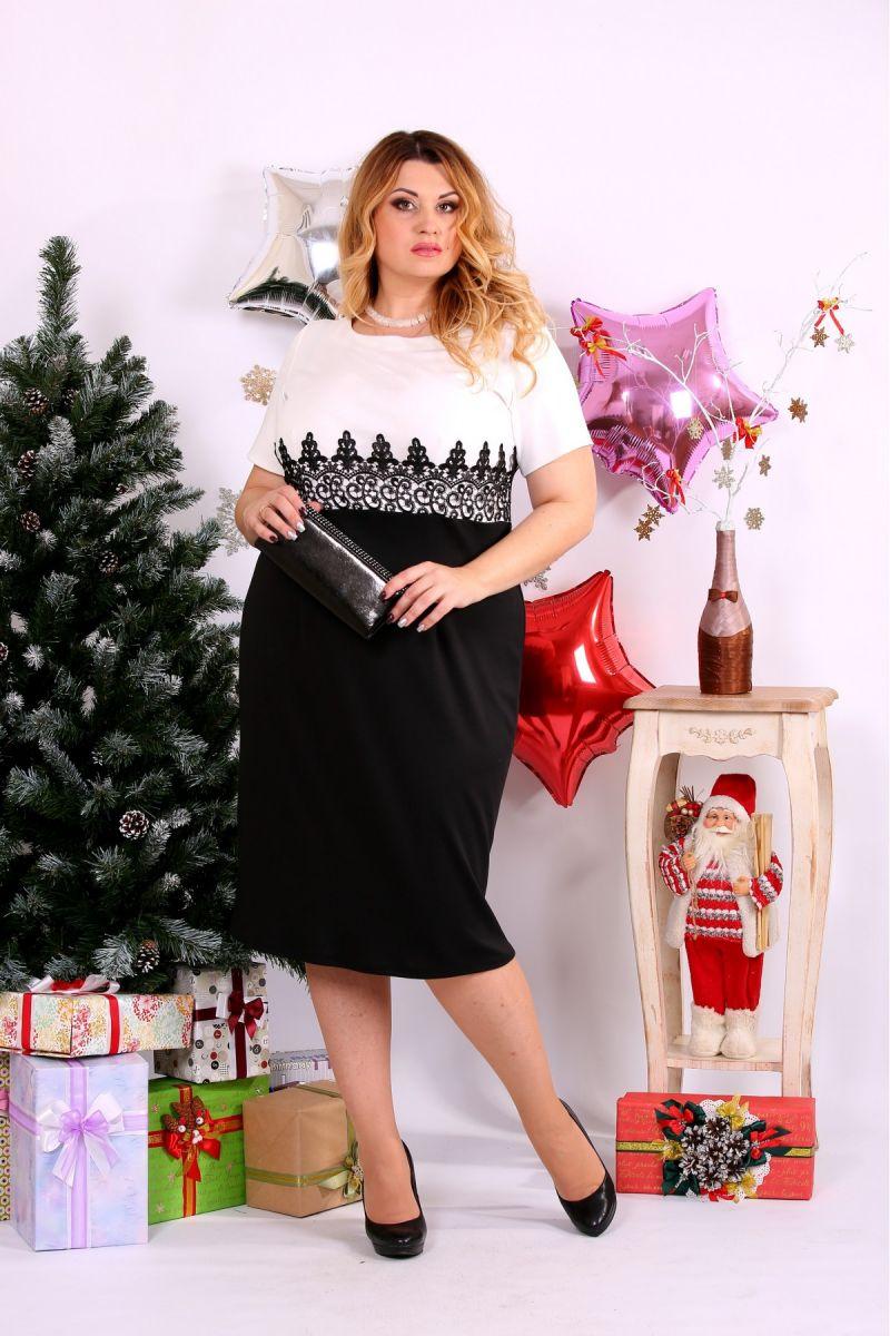 Костюм платье и накидка черный-белый 00-1337455 - Victorya-Shop.com