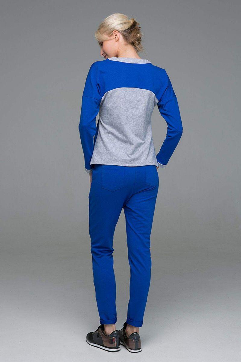 Костюм спортивный комбинированный TRIM синий 00-13380 - Victorya-Shop.com