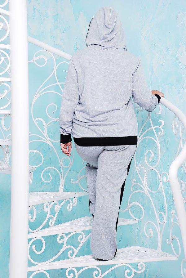 Костюм спортивный с гипюром цвет серый НАОМИ - Victorya-Shop.com