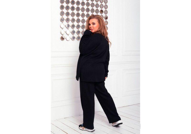 Костюм теплый большого размера ангора доступно в цвете 000-624 - Victorya-Shop.com