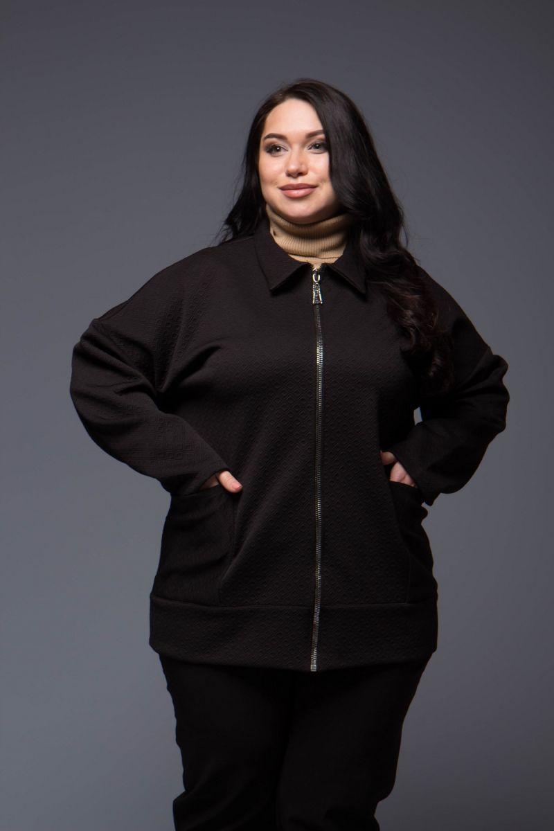 Куртка из трикотажа женская соты 000-472 - Victorya-Shop.com