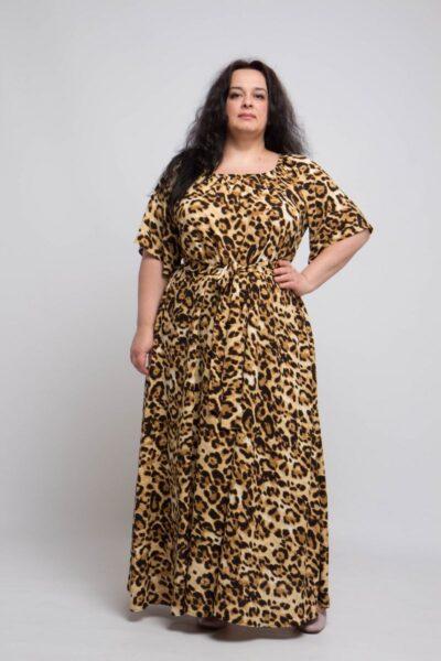 Легкое летнее платье из натуральной ткани большого размера доступно в цвете 000-704 - Victorya-Shop.com