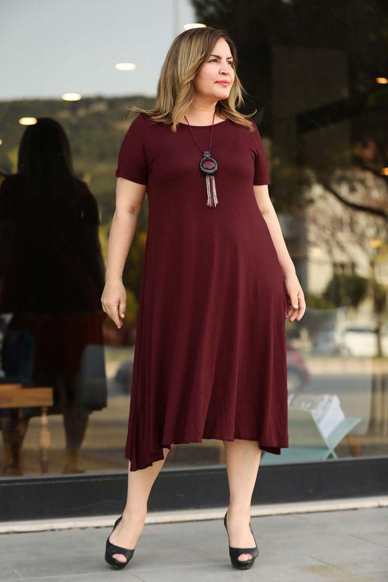 Летнее платье большого размера 000-524 - Victorya-Shop.com