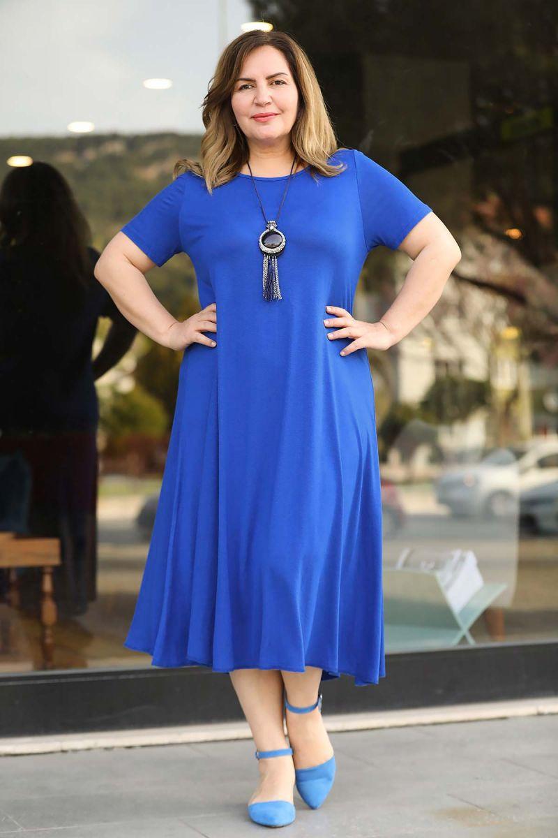 Летнее платье большого размера 000-525 - Victorya-Shop.com