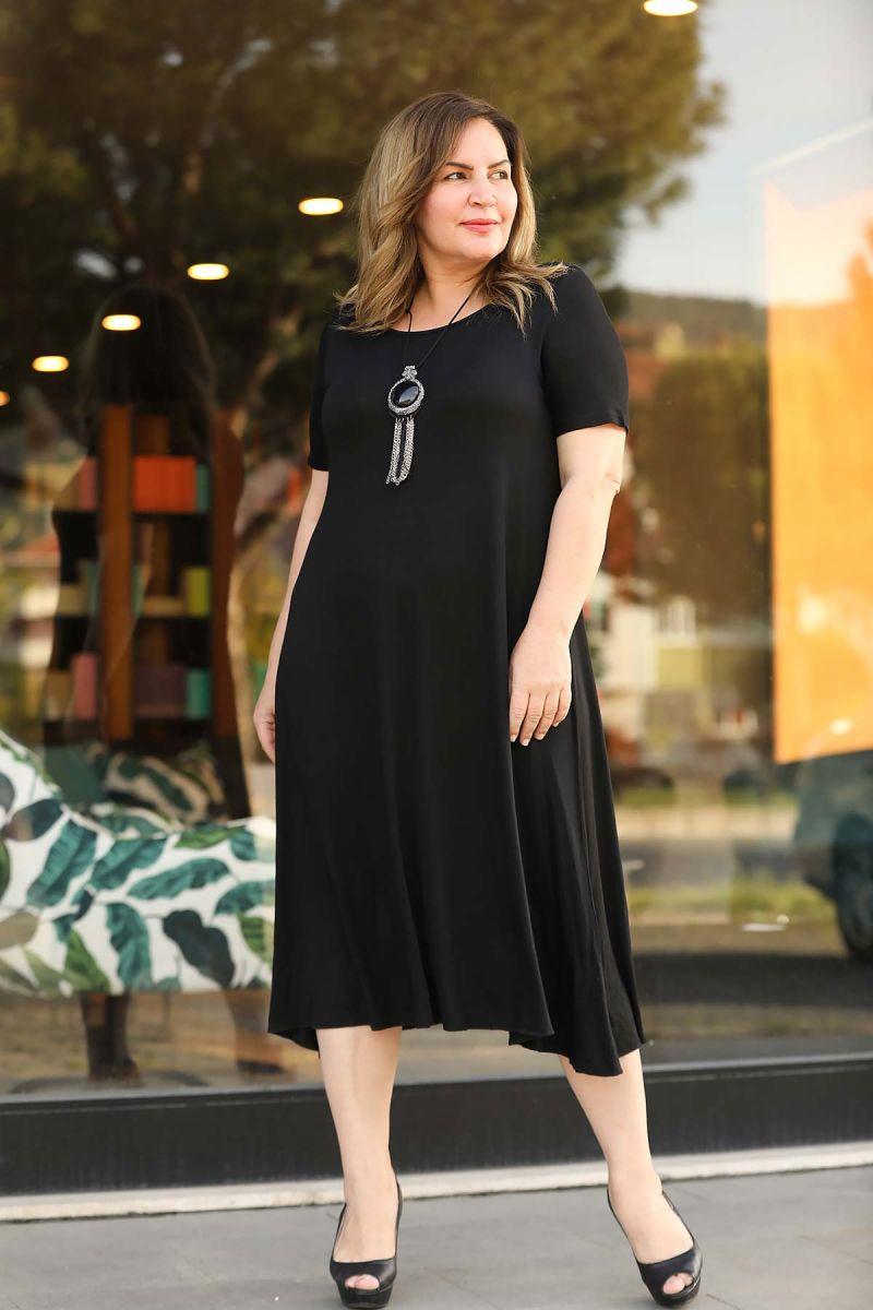 Летнее платье большого размера 000-526 - Victorya-Shop.com