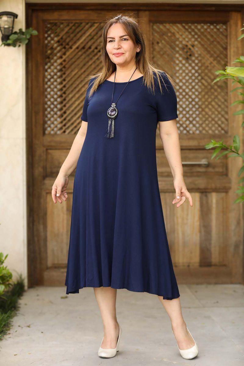 Летнее платье большого размера 000-527 - Victorya-Shop.com