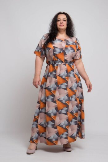 Летнее платье большого размера доступно в цвете 000-705 - Victorya-Shop.com