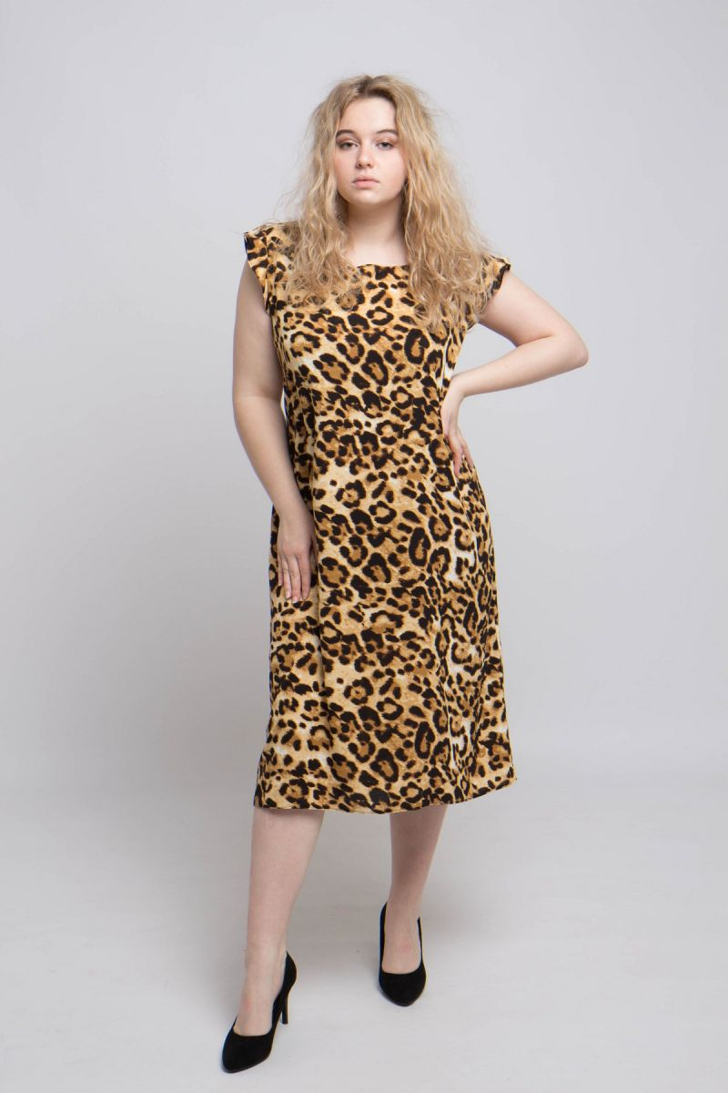 Летнее платье большого размера доступно в цвете 000-708 - Victorya-Shop.com