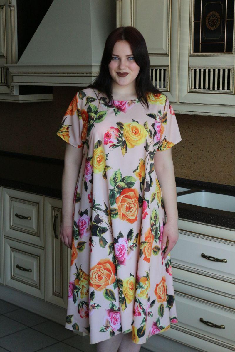 Летнее платье большого размера Моника доступна в цветах 00-133524 - Victorya-Shop.com