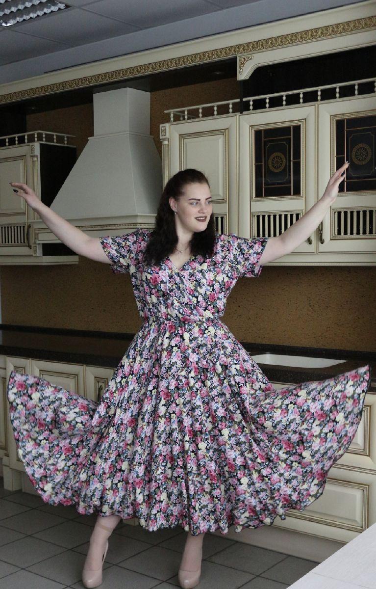 Летнее платье большого размера Жанна  00-133528 - Victorya-Shop.com
