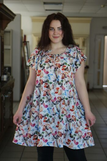 Летняя туника большого размера реглан из легкой ткани крепдешина доступно в цвете   000-482 - Victorya-Shop.com