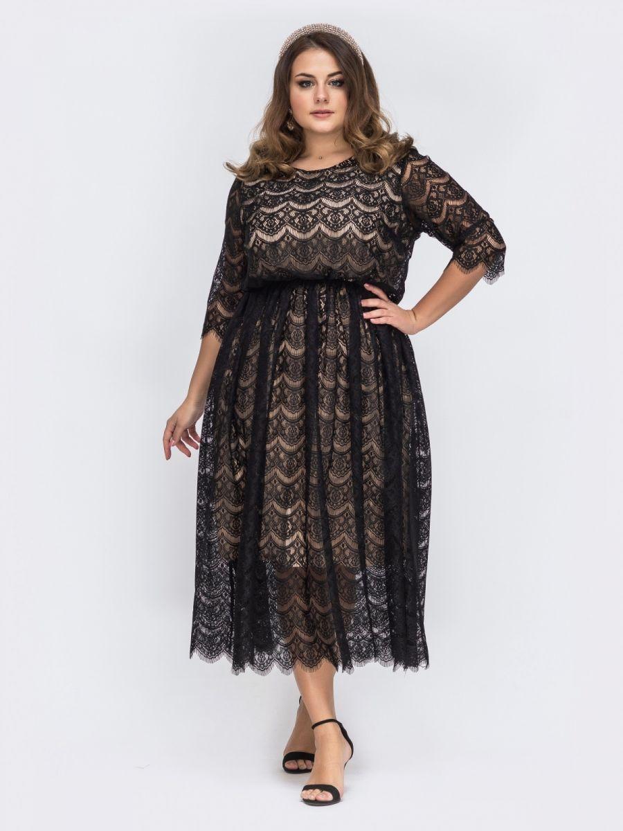 Нарядное платье большого размера 000-360 - Victorya-Shop.com