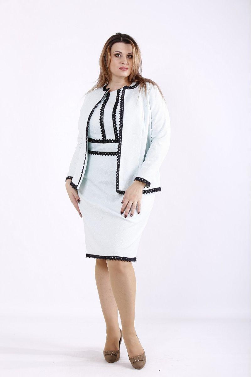 Нарядный костюм: платье и жакет мята  00-133658 - Victorya-Shop.com