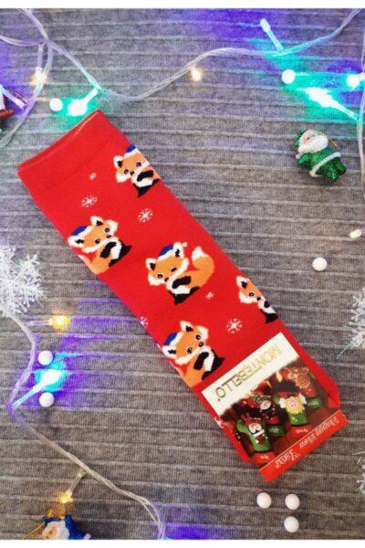 Носки новогодние теплые 00-13377 - Victorya-Shop.com