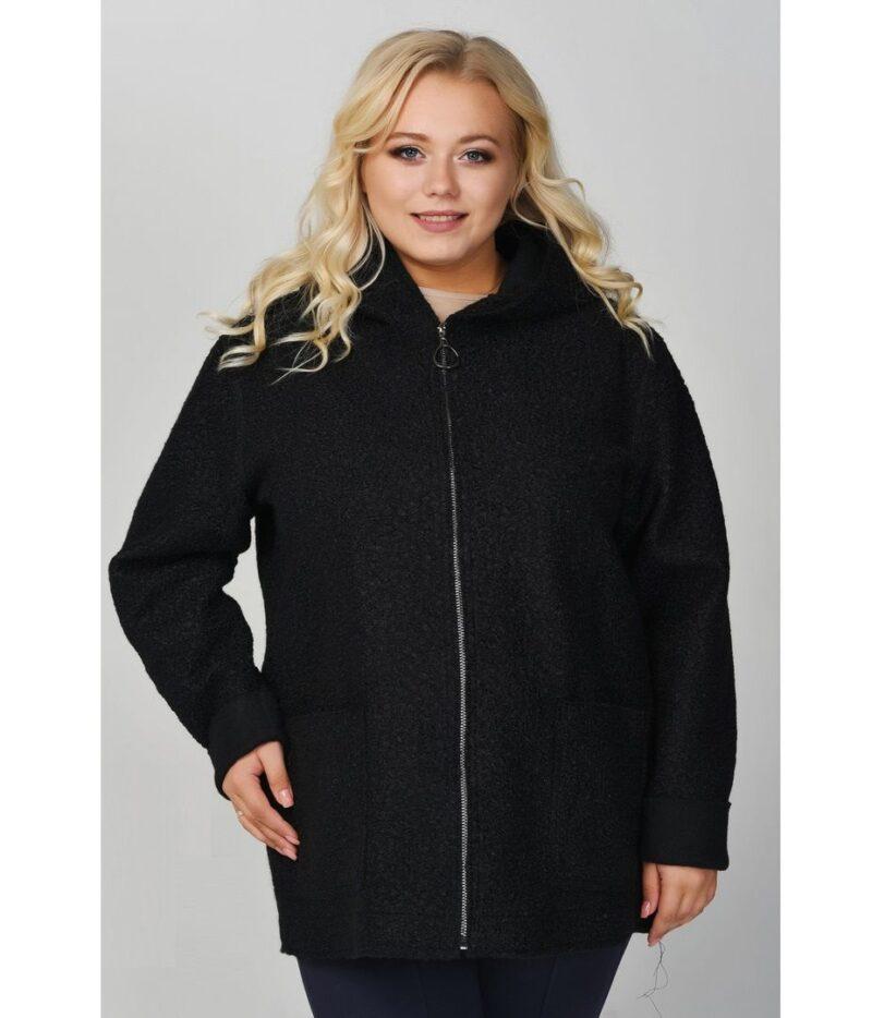 Облегченное пальто черный  000-63 - Victorya-Shop.com