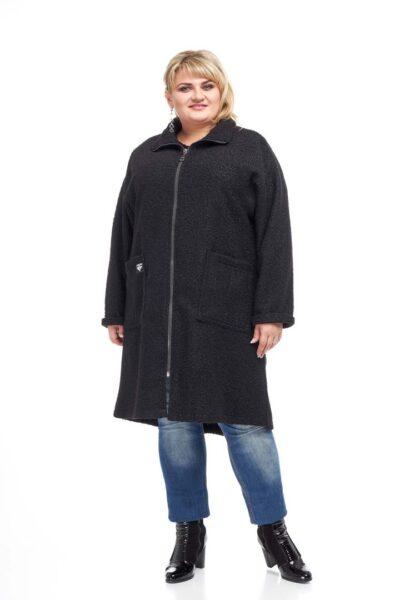 Пальто Букле черный  000-55 - Victorya-Shop.com
