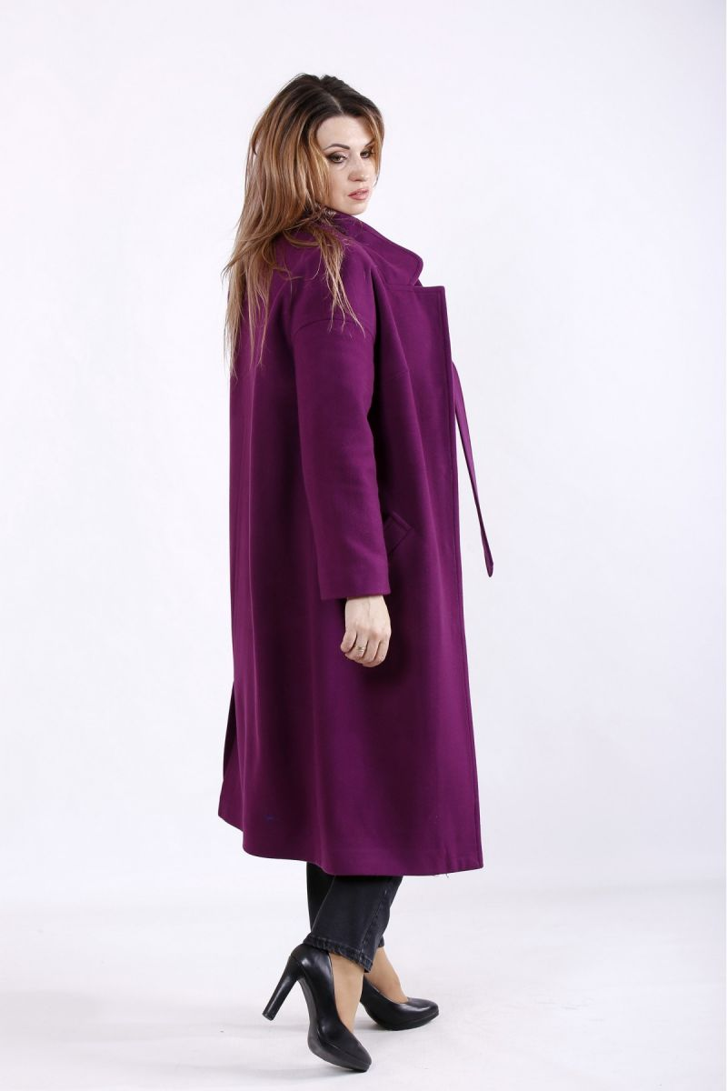 Пальто кашемтр фиолет  00-133656 - Victorya-Shop.com